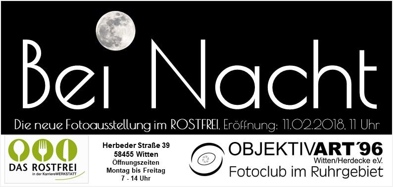 """Bei Nacht – Eine Clubausstellung in der Kantine """" Das Rostfrei """""""