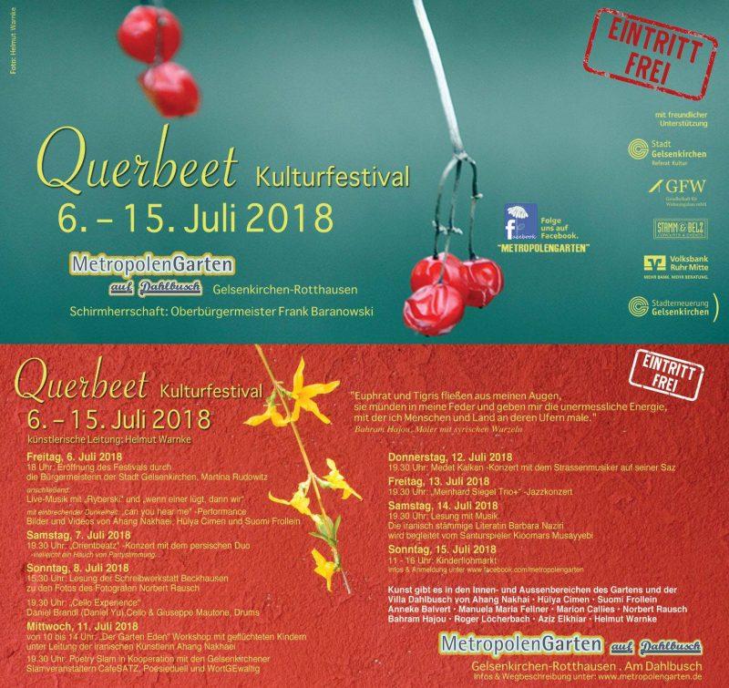 Querbeet – Kulturfestival – Norbert Rausch ist dabei