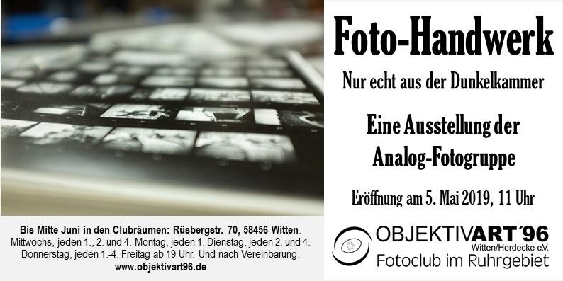 Foto-Handwerk – Eine Clubausstellung der Themengruppe Analog S/W
