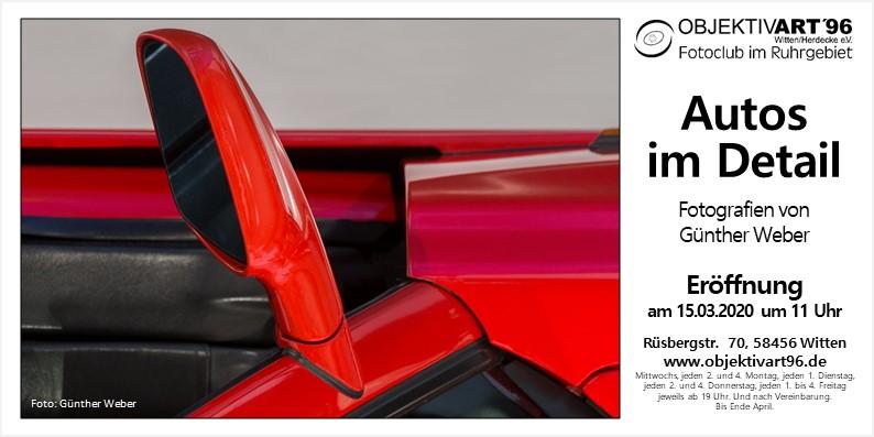 """"""" Autos im Detail """" – Eine Clubausstellung mit Fotografien von Günther Weber"""